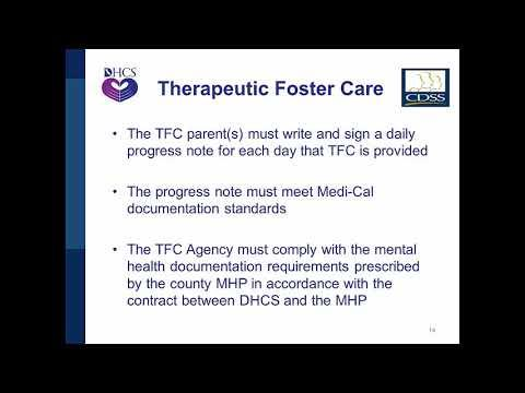 Therapeutic Foster Care and Intensive Services Foster Care