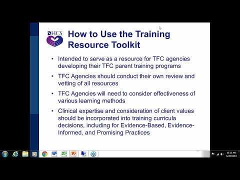Therapeutic Foster Care (TFC) Training Resources Toolkit