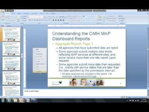 Understanding the CIBHS Dashboard Reports for LA PEI MAP